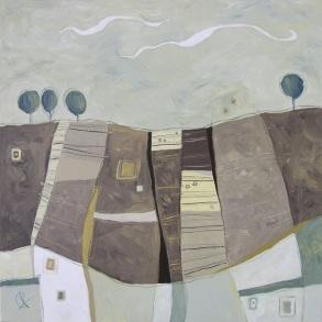 Primitiva - tecnica mista su tela – cm 80 x 80 – Primo Premio Saluzzo Arte 2010 – Semifinalista Premio Arte Mondadori 2010