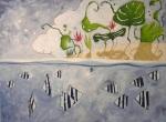 Kewarra Beach - tecnica mista su tela – cm 80 x 60