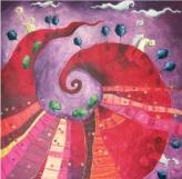 Paesaggio di langa - tecnica mista su tela – cm 100 x 100- Secondo Premio SaluzzoArte 2009