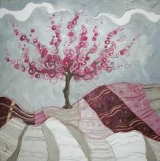 Appunti di un sognatore - tecnica mista su tela, cm 80 x 80