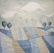 Air de Provence - tecnica mista su tela, cm 80 x 80