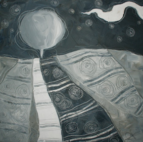 Sogno distorto - tecnica mista su tela, cm 60 x 60