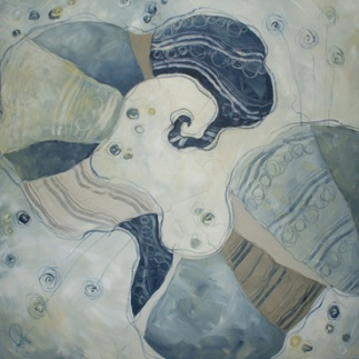 Se rinasco farfalla - tecnica mista su tela, cm 80 x 80