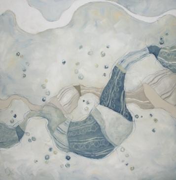 Pollini, il popolo dell'aria - tecnica mista su tela, cm 100 x 100