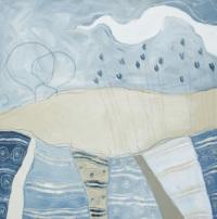 Lavanda - tecnica mista su tela, cm 80 x 60