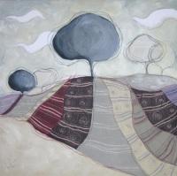 I pensieri dell'albero - tecnica mista su tela, cm 100 x 100