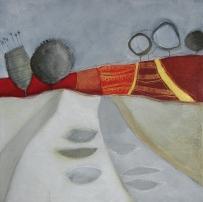 IL FRUTTETO – tecnica mista su tela, cm 60 x 60