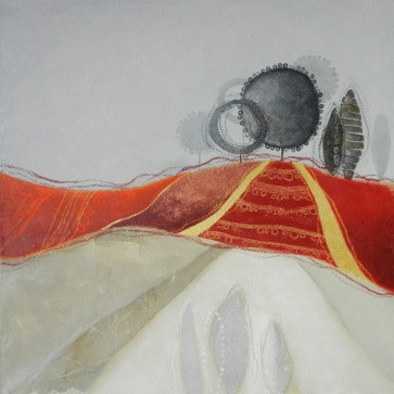 GIROTONDO DEL BOSCO BLU – tecnica mista su tela, cm 60 x 60