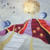 LIQUIDAMBAR - tecnica mista su tela, cm 100 x 100