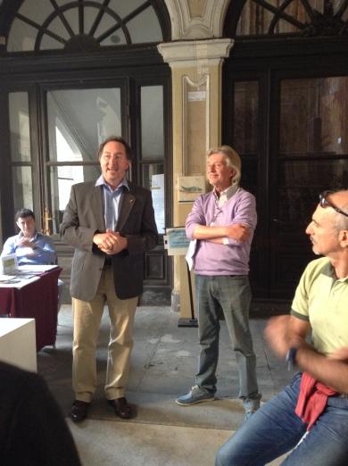 Fabrizio Gentile, curatore della rassegna, e Paolo Infossi, curatore della mostra
