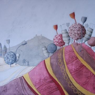 SEGRETI – tecnica mista su tela, cm 100 x 100