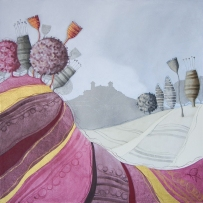 SOGNI D'ARIA – tecnica mista su tela, cm 80 x 80