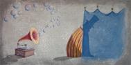 APPUNTI DI UN SOGNATORE - tecnica mista su tela, cm 80 x 40