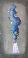 QUEL CHE RESTA DEI SOGNI - tecnica mista su tela, cm 40 x 80