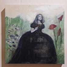 NEL GIARDINO DELL'ASSURDO - tecnica mista su tela, cm 50 x 50
